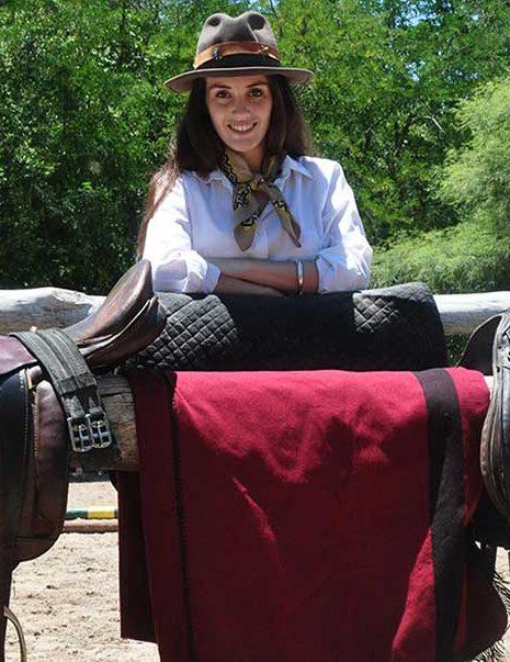 Weiblicher Gaucho in Argentinien