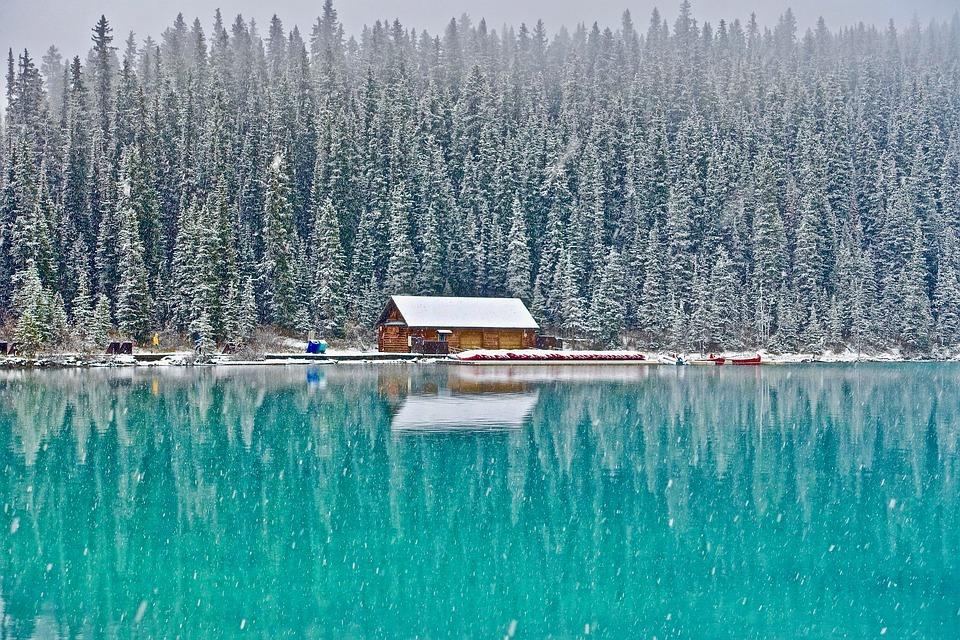 Blockhütte in Canada