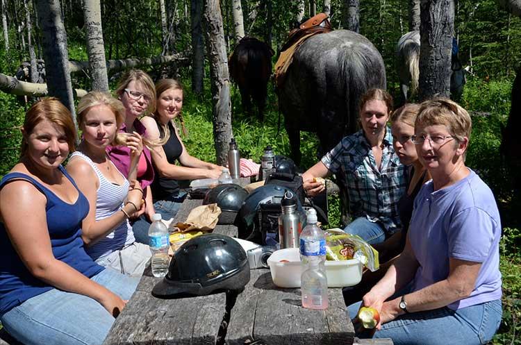 Farm-Familie mit Teilnehmern